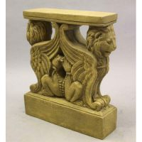 Winged Lion Table Base Fiberglass Indoor/Outdoor Garden Statue