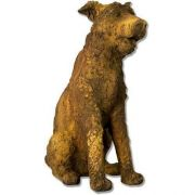 Wire Terrior 23in. - Fiber Stone Resin - Indoor/Outdoor Garden Statue