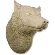 Wolf Head Display 50in. Fiberglass Indoor/Outdoor Garden Statue