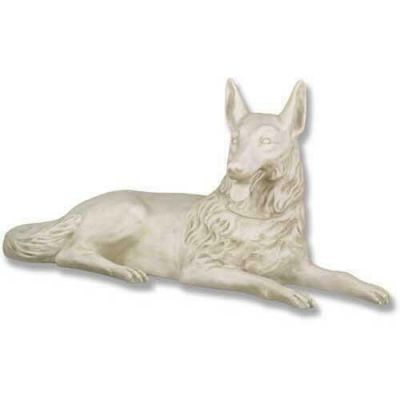 Wolf Laying 23in. High (Tongue Out) - Fiberglass - Statue -  - F6620
