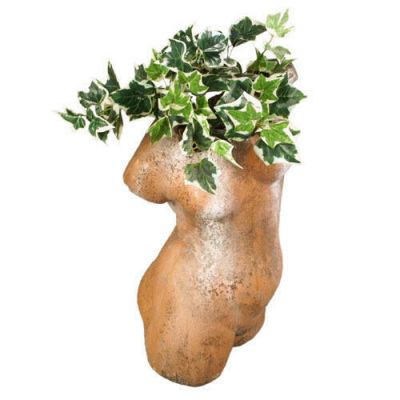 Woman Torso Planter 25in. Fiber Stone Resin Indoor/Outdoor Statue -  - FS9607