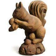 Woodland Squirrel - Fiber Stone Resin - Indoor/Outdoor Garden Statue