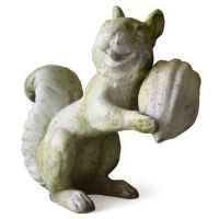 Squirrel Laughing - Fiber Stone Resin - Indoor/Outdoor Garden Statue