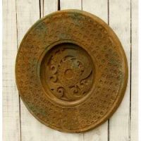 Xia Plate 24 Inch Fiber Stone Resin Indoor/Outdoor Statue/Sculpture