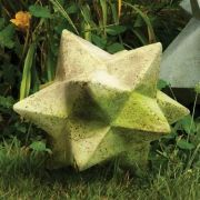 Zinc Star Small 9.5in. Fiber Stone Resin Indoor/Outdoor Garden Statue
