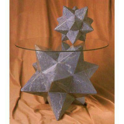 Zinc Star Table Base 18in. High Fiberglass Home Decor Sculpture -  - F1207
