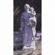 Saint Joseph,Child W/Cross 38 Fiberglass Indoor/Outdoor Garden Statue