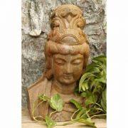 """Kwan Yin Bust 22"""" - Fiberglass Indoor/Outdoor Garden Statue"""