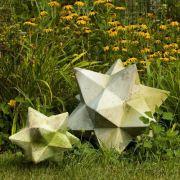Zinc Star Set Of Two Fiberglass Indoor/Outdoor Garden Statue