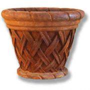28 W Basket Weave 23in. High  (R) Fiberglass Indoor/Outdoor Pot