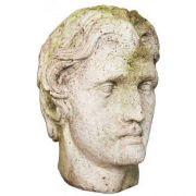 Alexander The Great Head 12in. Fiberglass Indoor/Outdoor Garden
