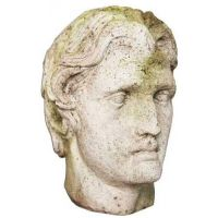 Alexander The Great Head 12in. Fiberglass Indoor/Outdoor Garden