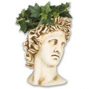 Apollo Head Planter 17in Fiberglass Indoor/Outdoor Garden
