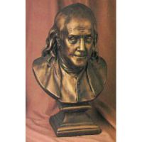 Ben Franklin Bust 23in. Fiberglass Indoor/Outdoor Garden