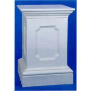 Ben Hur Pedestal 44in. Fiber Stone Resin Indoor/Outdoor Statuary