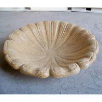 Blooming Bird Bath Top Fiber Stone Resin Indoor/Outdoor Statuary