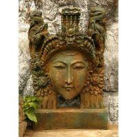 Bombay Face 30in. Fiberglass Indoor/Outdoor Garden