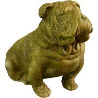 Brutus Bull Dog 13in. Fiberglass Indoor/Outdoor Garden