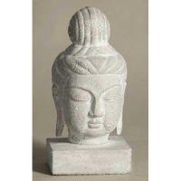 Buddha Head 11in. Fiberglass Indoor/Outdoor Garden