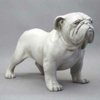 Bulldog 17in. High Fiberglass Indoor/Outdoor Garden