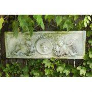Cherub Victorian Plaque Fiberglass Indoor/Outdoor Garden