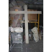 Cross W/Wood Texture For Wall Fiberglass Resin Indoor/Outdoor Garden