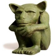 Dedo Gargoyle Medium 6in. High Fiber Stone Indoor/Outdoor Statuary