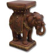 Elephant Pedestal 23in. Fiberglass Indoor/Outdoor Garden Statue