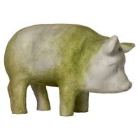 Folk Pig Fiberglass Indoor/Outdoor Garden