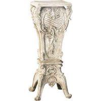 French Pedestal 30in. Fiberglass Indoor/Outdoor Garden