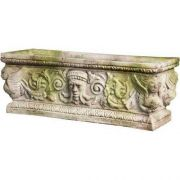 Greenman Rectangle Urn 11in. Fiberglass Indoor/Outdoor Garden