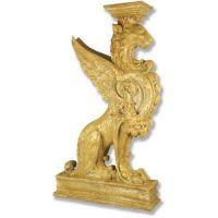 Griffin Pedestal-Colossal 54in. Fiberglass Indoor/Outdoor Garden