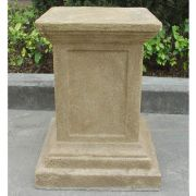 Hamlin Square Base Fiber Stone Resin Indoor/Outdoor Statuary