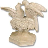 Kissing Doves 14in. Fiberglass Indoor/Outdoor Garden