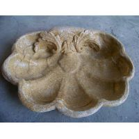 LARGO BIRDBATH TOP ONLY Fiber Stone Resin Indoor/Outdoor Statuary