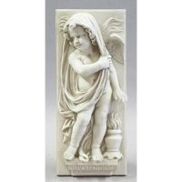 Little Boy Winter Plaque 30in. Fiberglass Indoor/Outdoor Garden