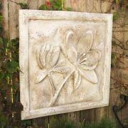 Lotus Plaque Fiberglass Resin Indoor/Outdoor Garden
