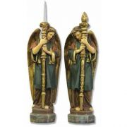 Majestic Angel Guardian Set Fiberglass Indoor/Outdoor Garden