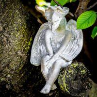 Meditating Dragon 13in. Fiberglass In/Outdoor Garden