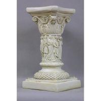 Nine Muses Pedestal 20in. Fiberglass Indoor/Outdoor Garden
