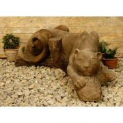 Panther Snarl 44in. W Fiberglass Indoor/Outdoor Garden