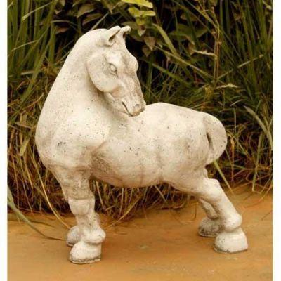 Peking Horse 16in. Fiberglass Indoor/Outdoor Garden -  - F8155