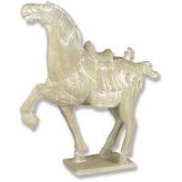 Peking Horse Left 40in. Fiberglass Indoor/Outdoor Garden