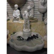 Peter Pan Fountain On Rippled Fiberglass Indoor/Outdoor Garden