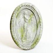 Plaque Of Flora 34in. Fiber Stone Resin Indoor/Outdoor Statuary