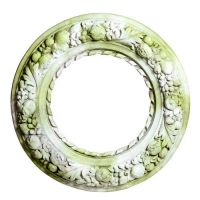 Pomegranate wreath Fiber Stone Resin Indoor/Outdoor Statuary