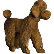 Poodle Fancy 16in. High Fiberglass Indoor/Outdoor Garden