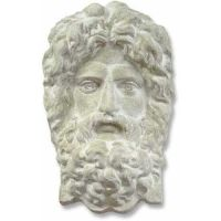 Poseidon Mask 18in. Fiberglass Indoor/Outdoor Garden