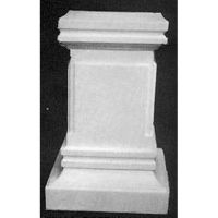 Rectangular Pedestal Sm. 24in. Fiberglass Indoor/Outdoor Garden