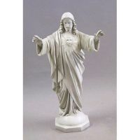 Sacred Heart Blessing Arms 37in. Fiberglass Indoor/Outdoor Statues